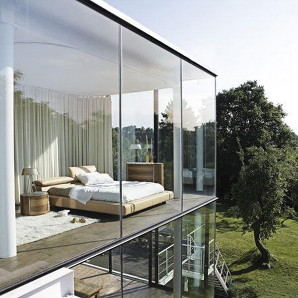 Enhance the Bedroom Designs with Glass Wall Ideas | Best Bedroom Interior Design
