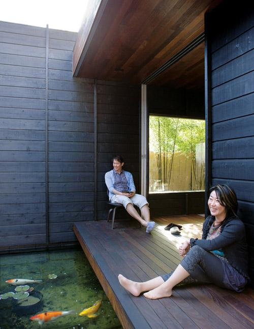 Hidden japanese house model architecture design home for Contemporary koi pond design