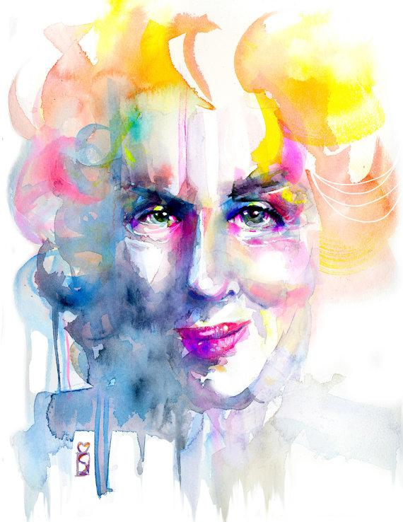 Watercolor Fashion Illustration Illustration by martaspendowska