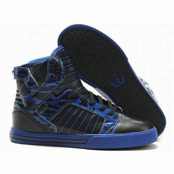 royal blue and black supra skytop leather men sneakers online sale