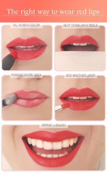 the right way to wear red lips - StyleCraze