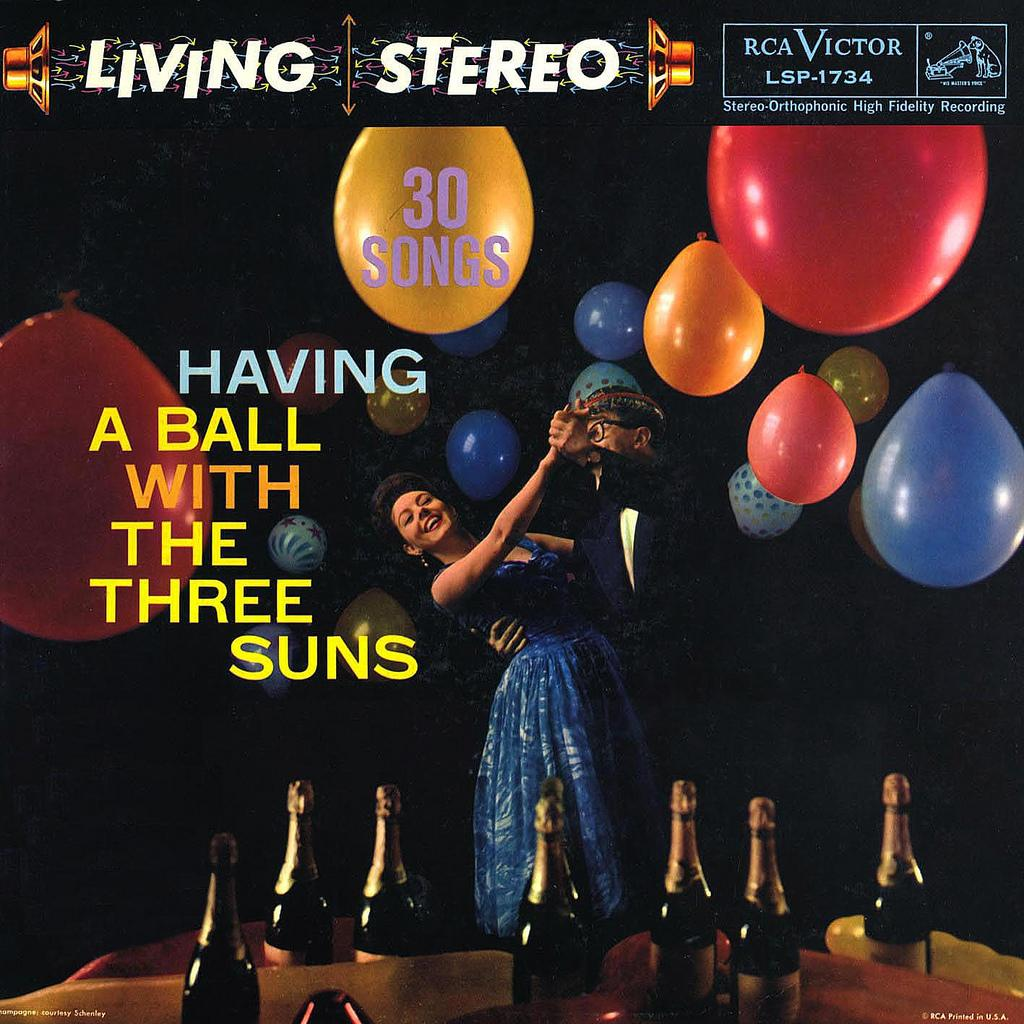LP Cover Art « Having a Ball with The Three Suns