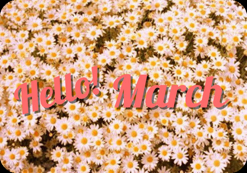 A bit of inspiration - Hello March! Hello birthday celebrations, hello...