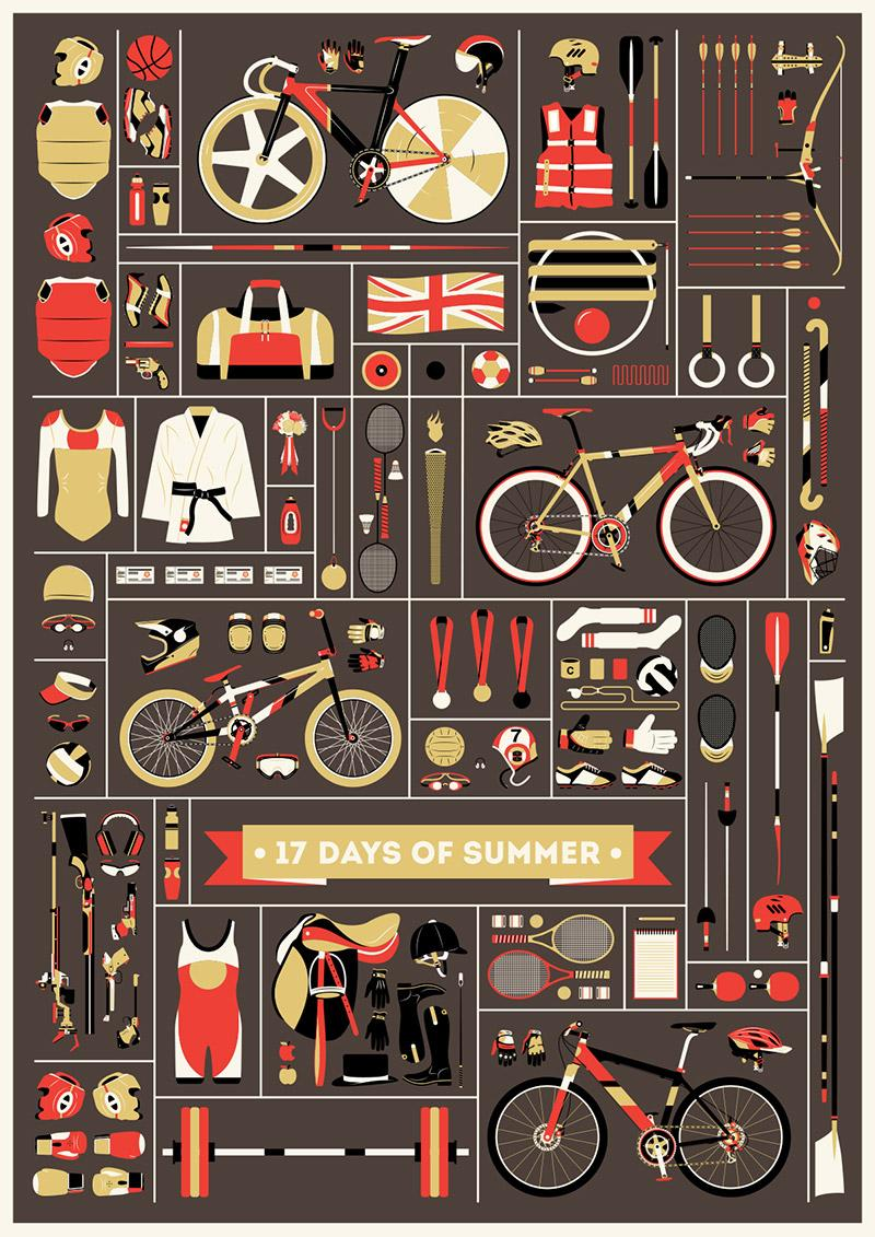Jordon Cheung celebrates the 2012 Olympics with his '17 Days of Summer' poster | The Fox Is Black
