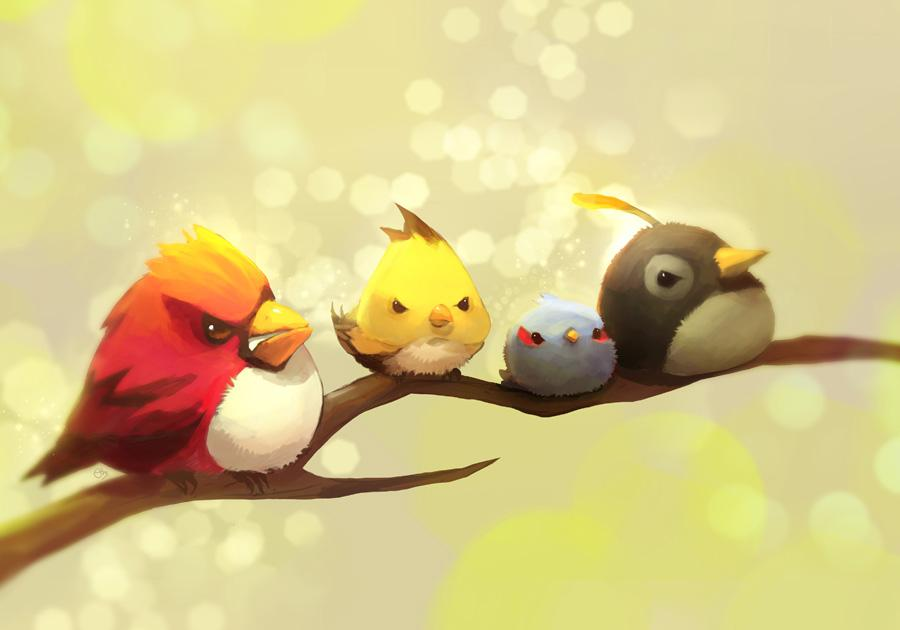 Angry Bird by ~ethe