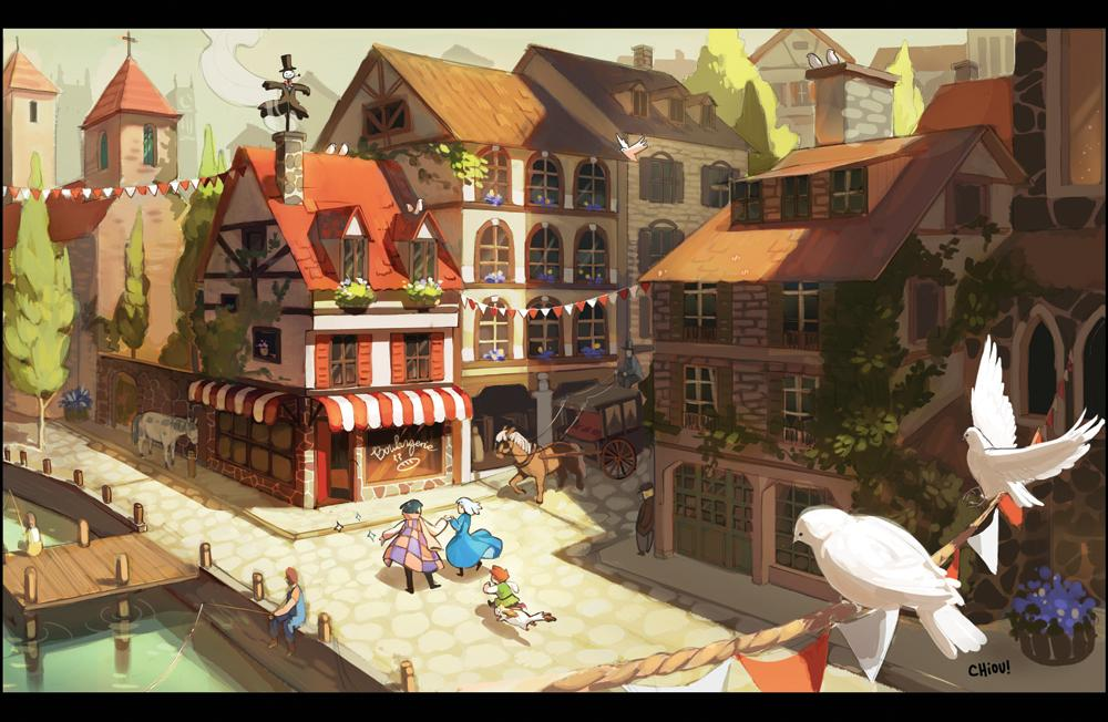 Chiou   Howl's Moving Castle Print   Online Store Powered by Storenvy