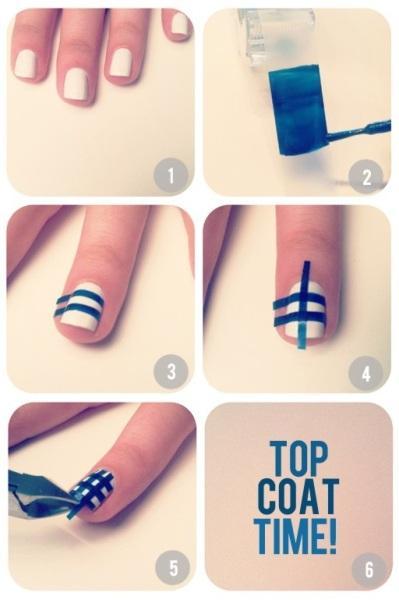 top coat nail art design - StyleCraze