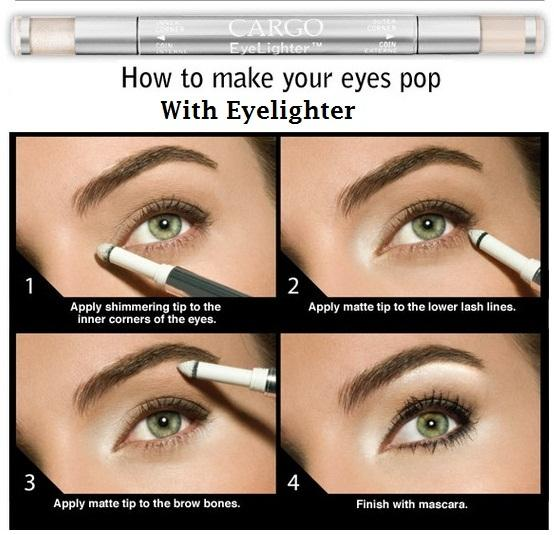 how to make youe eyes pop with wywlighter - StyleCraze