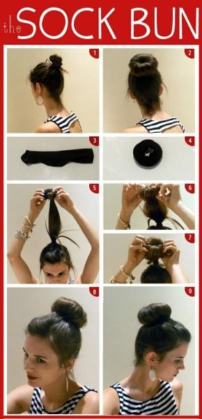 sock bun - StyleCraze