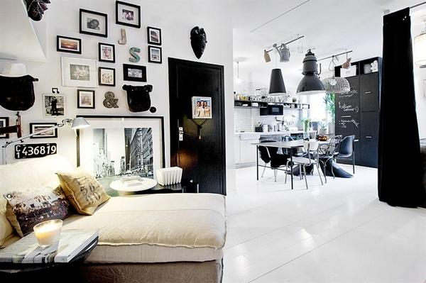 A small Swedish apartment with great style | Interior Design and Architecture