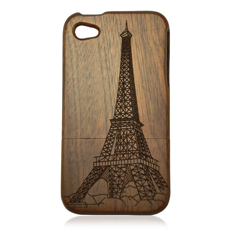 Cheap Vintage Bamboo iPhone 4/4s Case - The Eiffel Tower