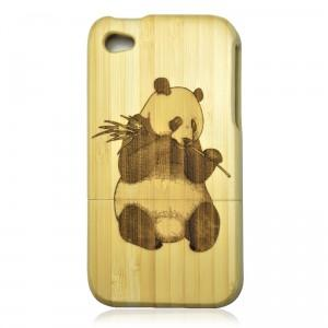Bamboo Iphone4/4s Case- Hand Carved Panda