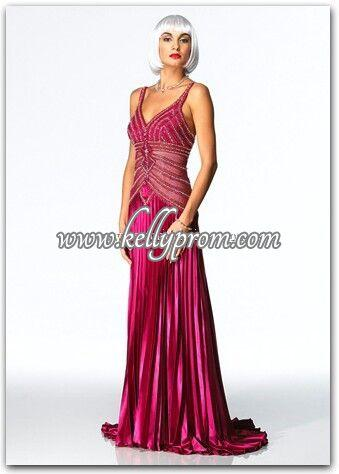Discount Alyce Satin Rouge Prom Dress 3103 - $275.00