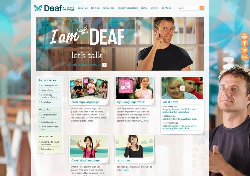 Best Awards - Creature. / Deaf Aotearoa New Zealand Website