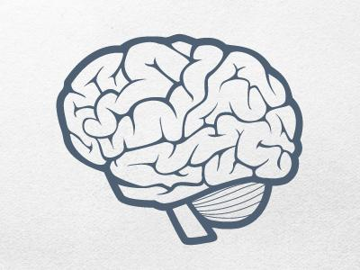 Vector Brain Icon Final by Zack Smith