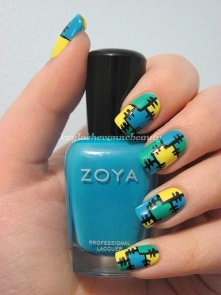 puzzle nail art - StyleCraze