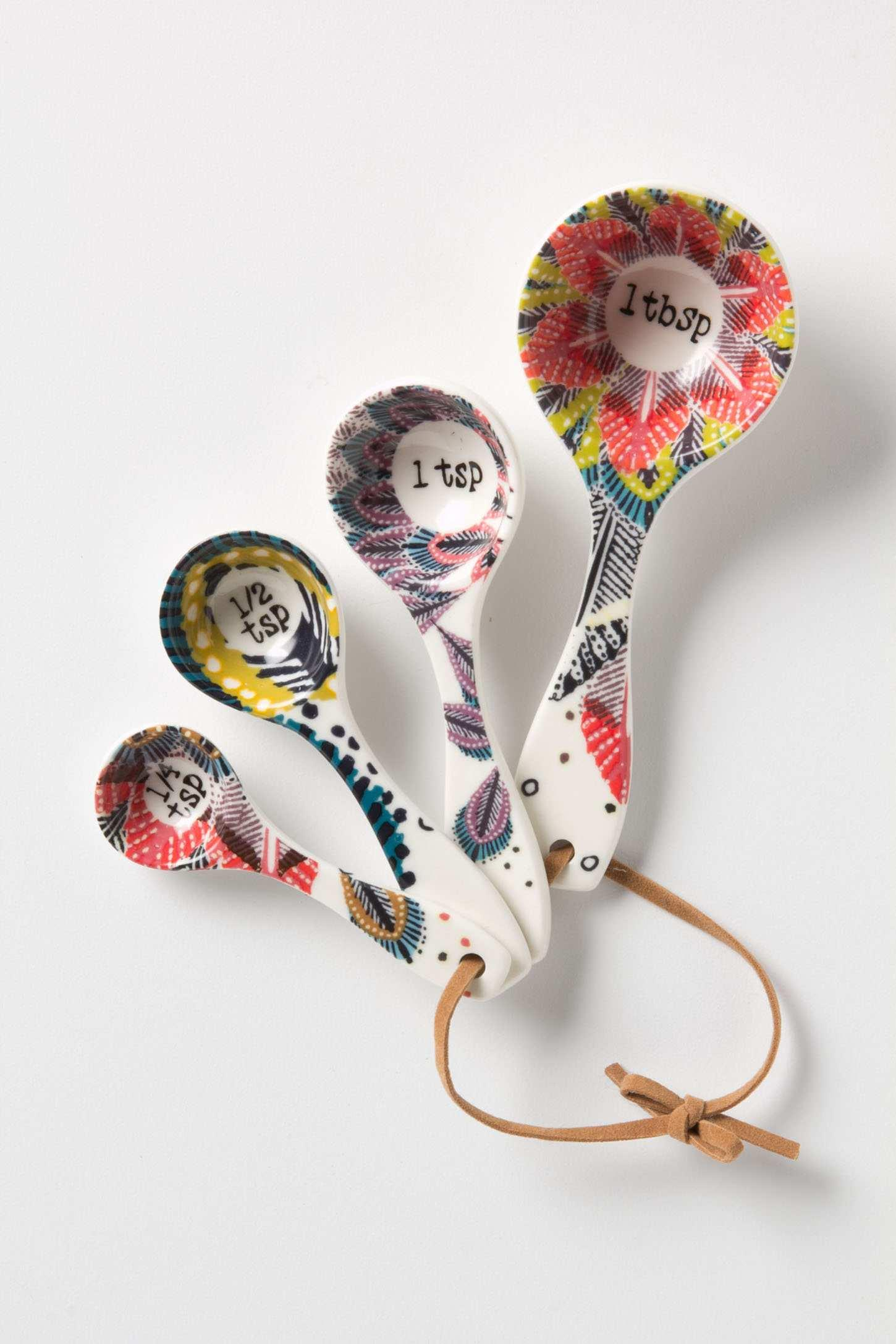 Pop-Print Measuring Spoons | Anthropologie.eu