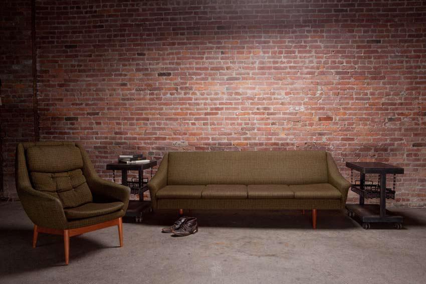 Sofa w/ Matching Chair MFG by DUX | Strawser & Smith