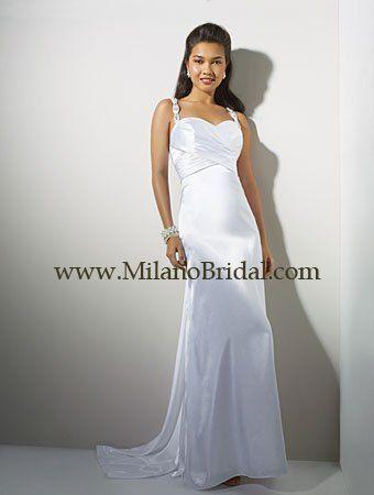 Buy Alfred Angelo 16716 Niki White Collection Price Cheap On Milanobridal.com