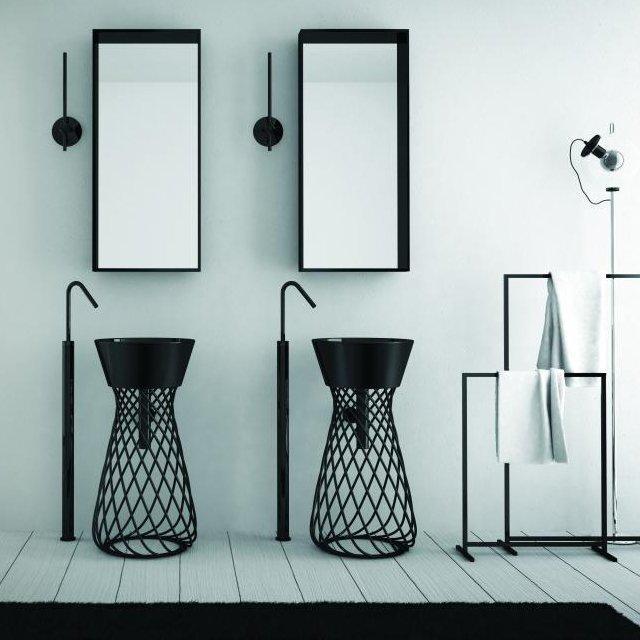 Fancy - Wire Pedestal Sink by Hidra