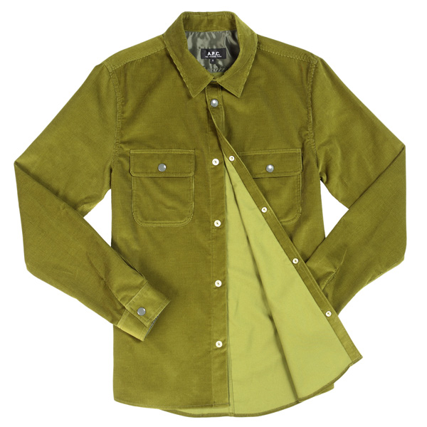 A.P.C Overshirt Olive discount sale voucher promotion code | fashionstealer