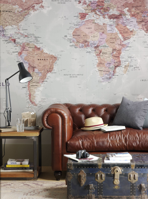 world map wallpaper - morning breeze