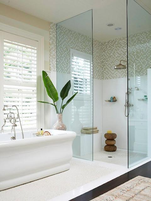 modern white bathroom - morning breeze