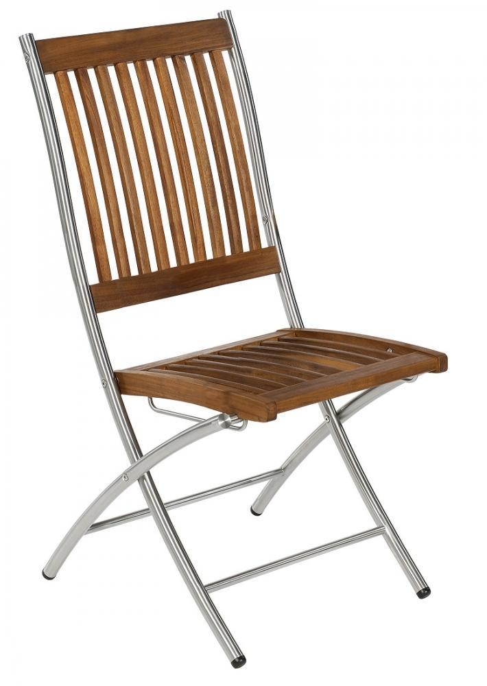 SINGAPUR I Klappstuhl Sessel Gartenstuhl GARTENMÖBEL Akazienholz Holz Edelstahl 4250640461075 | eBay