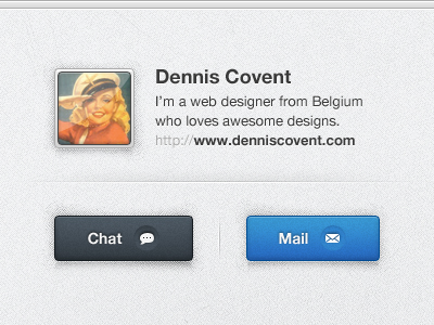 Profile card by Dennis Covent