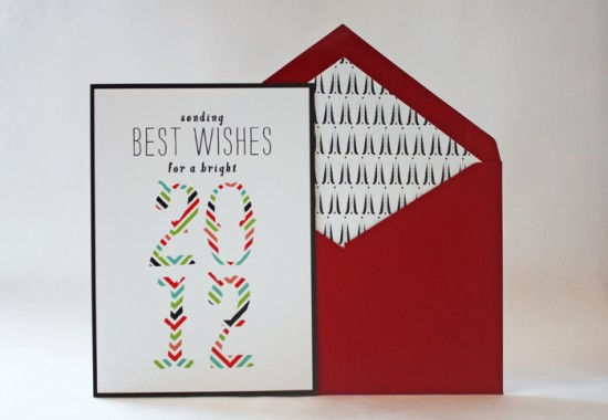 Modern and Unique 2011 Holiday Cards | Oh So Beautiful Paper