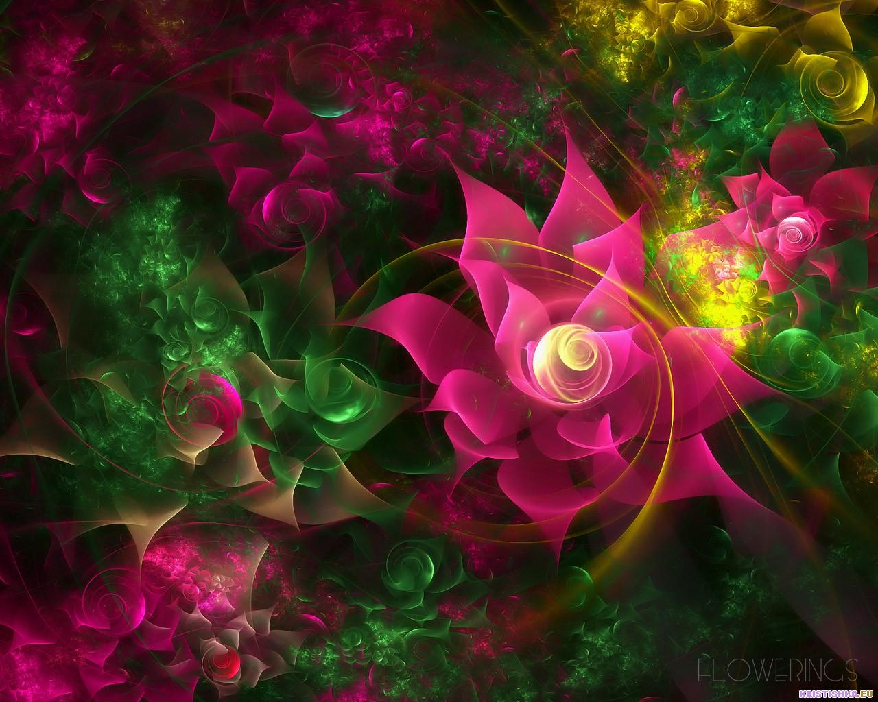 Fractal 3D Flowers 16 World Wallpaper Collection