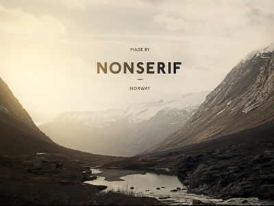 Dribbble - Nonserif - Word mark by Henning Gjerde — Designspiration