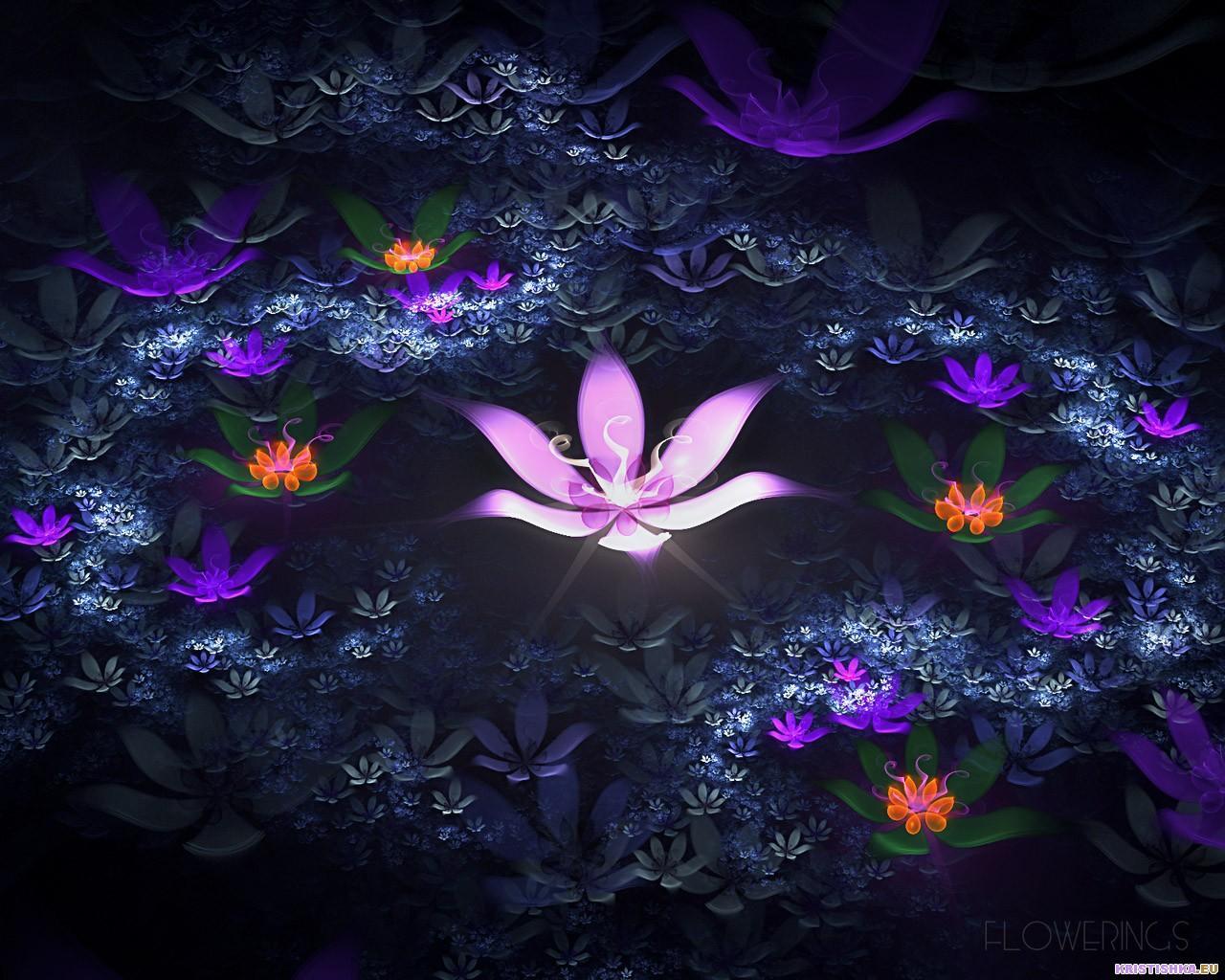 Fractal 3D Flowers 14 World Wallpaper Collection