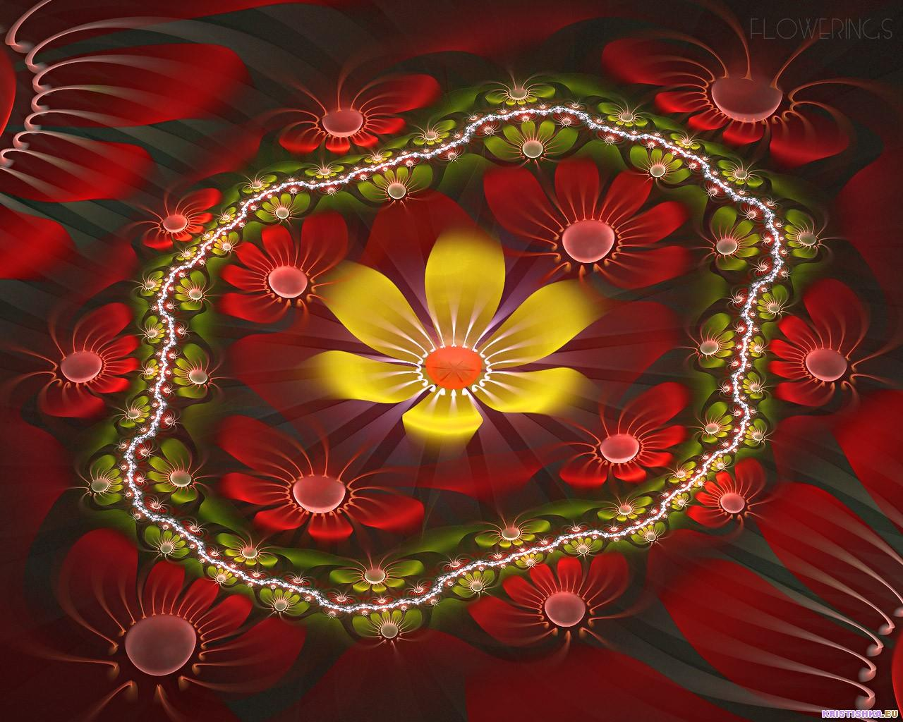 Fractal 3D Flowers 13 World Wallpaper Collection