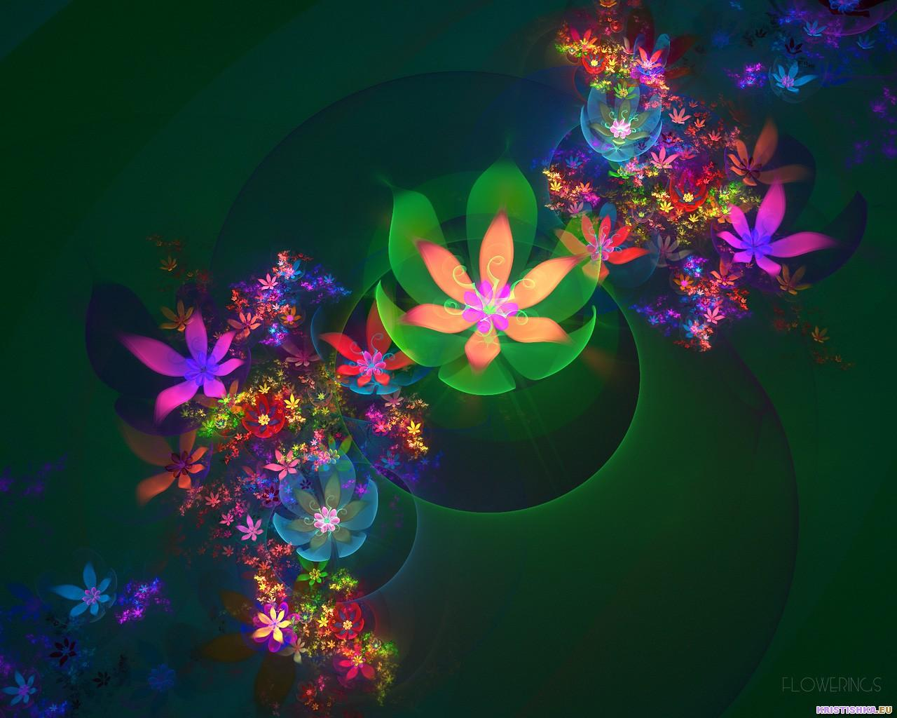 Fractal 3D Flowers 12 World Wallpaper Collection