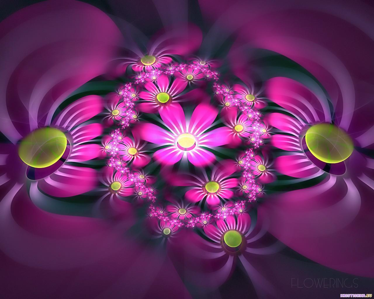 Fractal 3D Flowers 05 World Wallpaper Collection