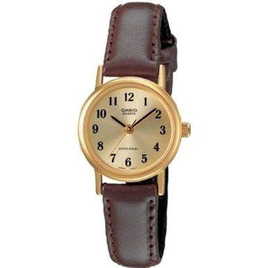 Casio Women's Brown Leather Strap Watch, Champagne Dial, LTP1095Q-9B1 | eBay