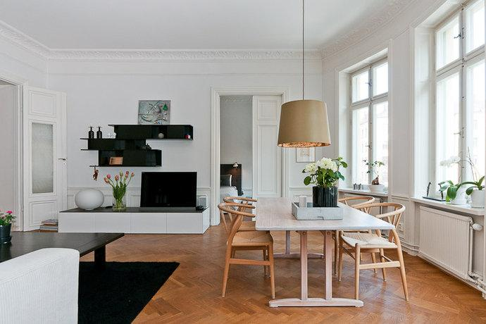 From Scandinavia with love - design & style (A home in Sweden. Photo from Hemnet Inspiration.)