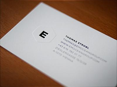 emocean group embossed Business Cards by Thomas Strobl