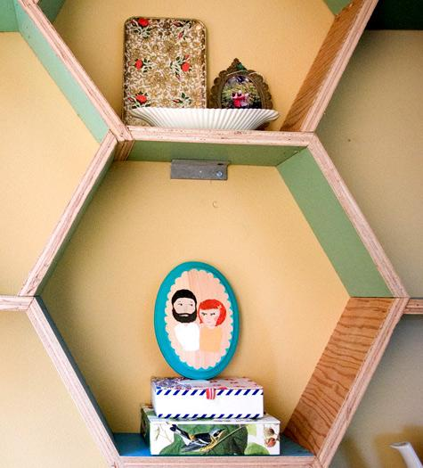 diy project: honeycomb storage shelves | Design*Sponge