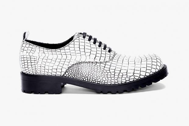 COMME des GARCONS HOMME PLUS Contrast Kip Embossed Shoes | SLAMXHYPE
