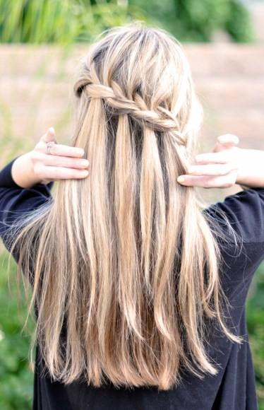 Fancy - Partial French Braid and Cascading Hair Tutorial | Beauty