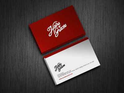 Hairs 'n' Graces - Business cards by Ryan Waring