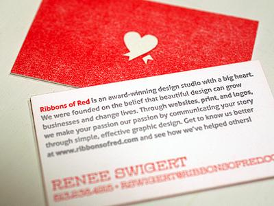 ROR Letterpress Business Cards by Renee Swigert