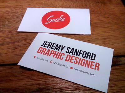 Sanfoj Business Cards by Jeremy Sanford