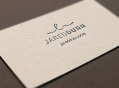 Letterpress Business Cards by Jared Dunn