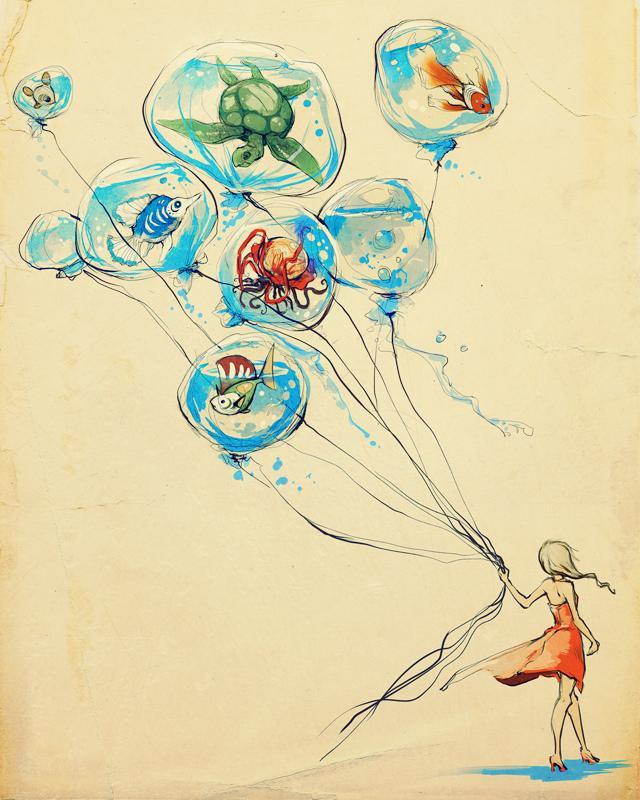 Water Balloons by *purplekecleon
