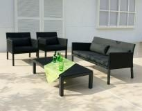 outdoor dining set , textilene , aluminium , sling Lisbon