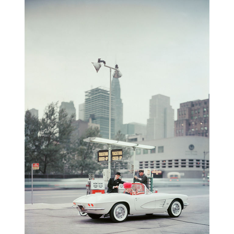 Mark Shaw Editioned Photo-Model in Corvette#2, N...