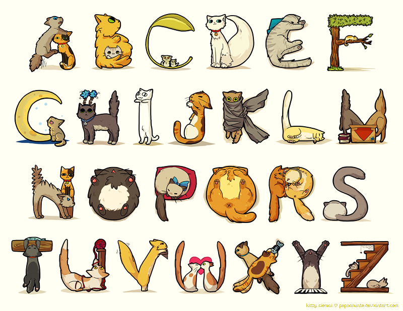 cat alphabet by *pepaaminto